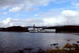 View of Lagavulin Distillery.  All of the distilleries on the island offer tours.