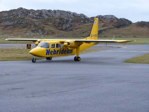 Arrive by plane from Oban in just 20 minutes
