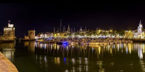 La Rochelle Old Port by night