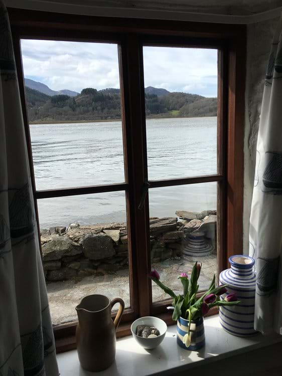 View from kitchen window with tide in