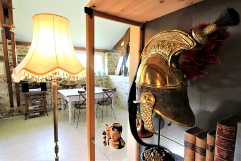 The gite is furnished with antiques