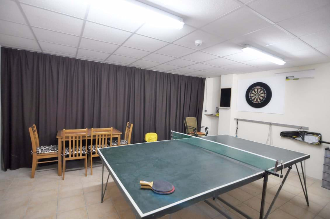Games room inc full-sized table-tennis, darts, card table, poker and lots of popular board games