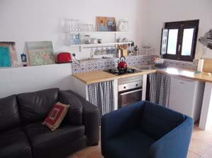 Kitchen and Lounge Area.