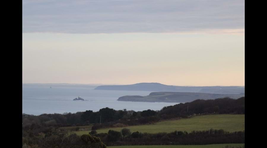 Early morning view from the footpath to St Ives