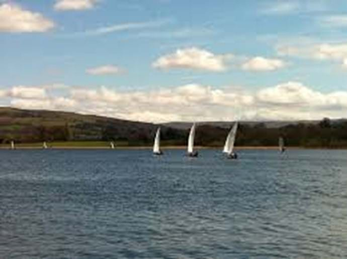Sailing at Llangorse Lake