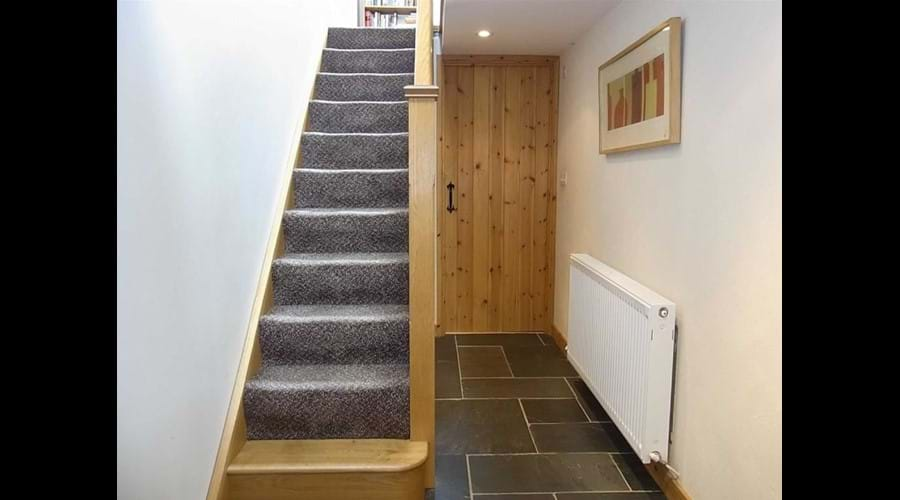 Modern staircase for easy access to upper level