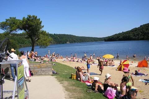Your nearest beach at Lac de Guerledan