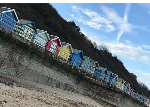 Beach huts at Overstrand