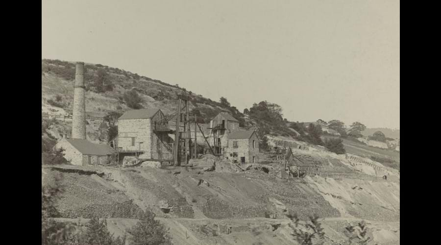 Okel Tor Mine circa 1890 - shortly after the mine closed