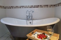 Damson Cottage - double ended roll top bath (identical bath in Willow Cottage)
