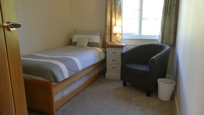 Single bedroom which can be set up as a twin room