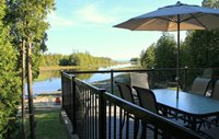 Outdoor dining and spectacular views from the front deck.