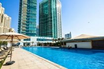 """""""One of two pools one of the largest residential pools in Dubai plus childs pool"""