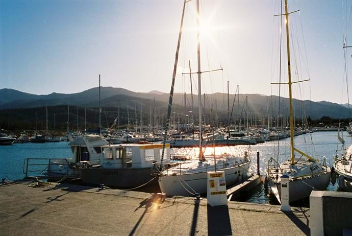 Boats at Argeles port
