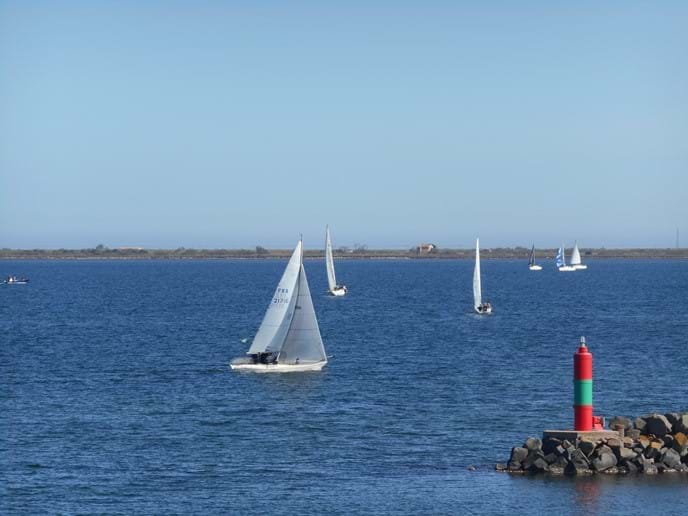 Sailing on the water outside your Marseillan holiday home