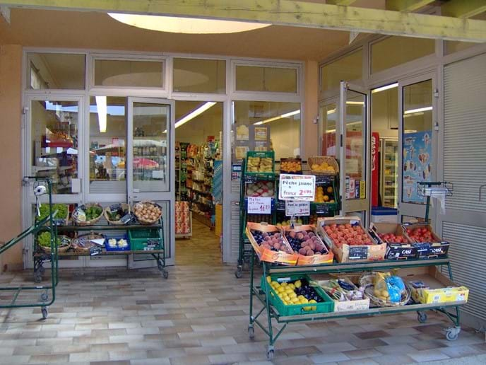 Supermarket in the nearby naturist shopping centre (yes you can shop naked!)