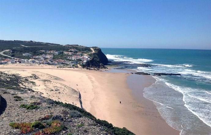 The local Monte Clerigo Beach