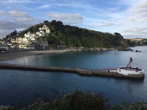 Scenic Looe harbour and beach