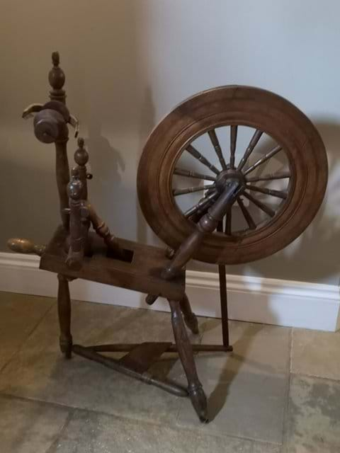 Time to learn to spin. This is my Grandmothers spinning wheel.