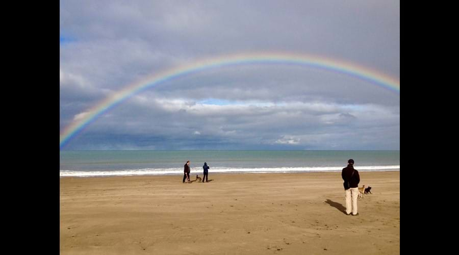 Somewhere under the rainbow, New Quay