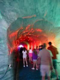 Walk under the Mer de Glace Glacier