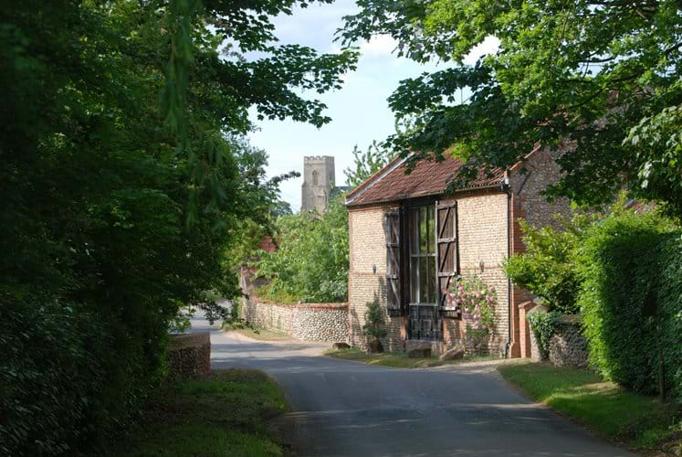 A typical nearby North Norfolk village scene