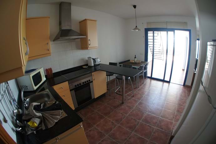 Kitchen and indoor dining table