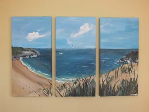 Chalet Cwtch Pembrokeshire Painting