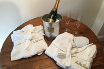 *** For those special occasions - bathrobes, slippers and champagne on arrival ***        (by prior arrangement)