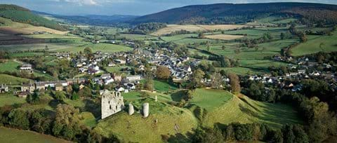 Clun Castle and Town