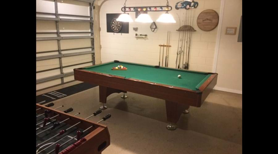 Fully airconditioned games room inc pool table, darts, table football/multi games table,playstation 2, TV,HiFi and high top table and chairs