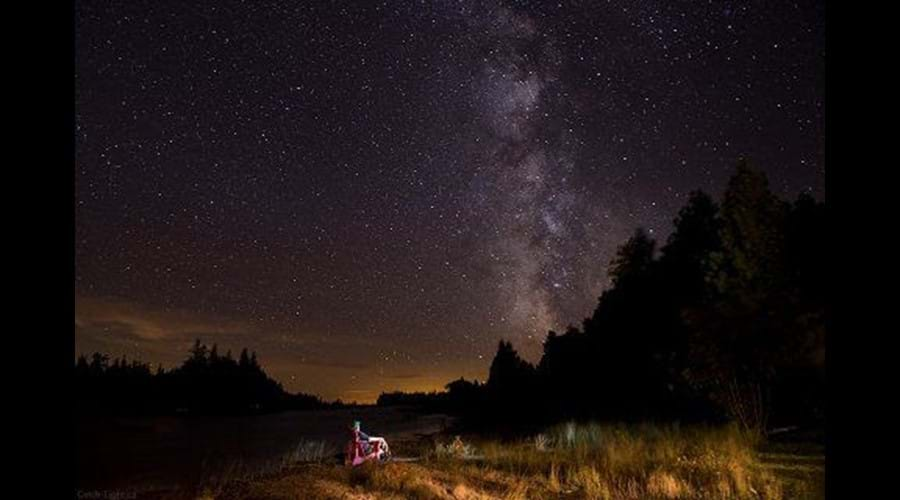The amazing night sky overhead at the Willow Bank showing the Milky Way. Photo by Catchlight Photography