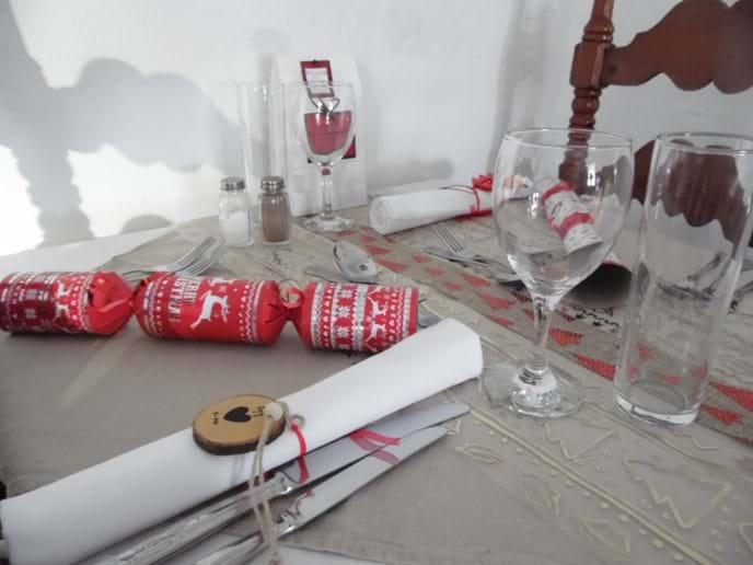 Christmas Table at Restaurante Los Lucas.