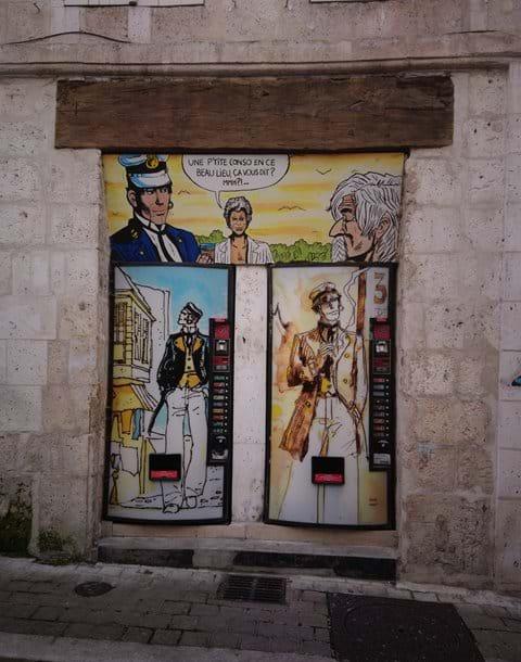 Cartoon art in Angouleme