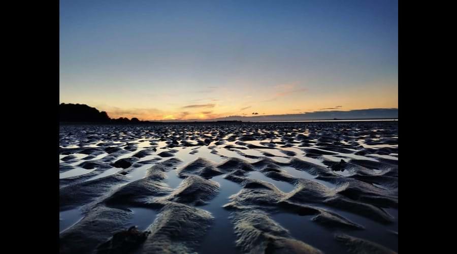Amazing shot across Appley beach towards Ryde