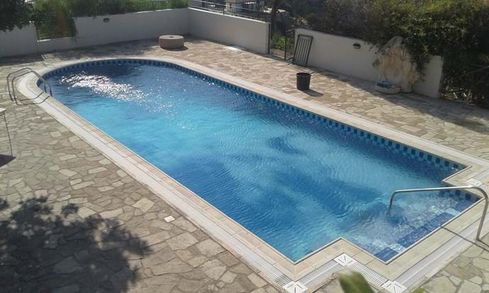 The pool from the upstairs terrace