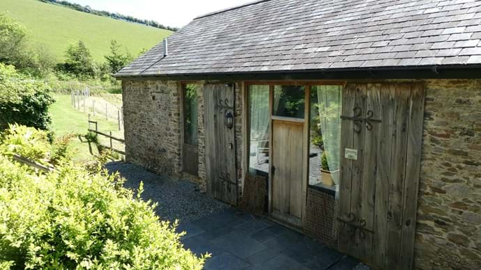 Front Entrance to Nutcombe Barn