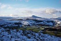 Sugarloaf from Skirrid in winter
