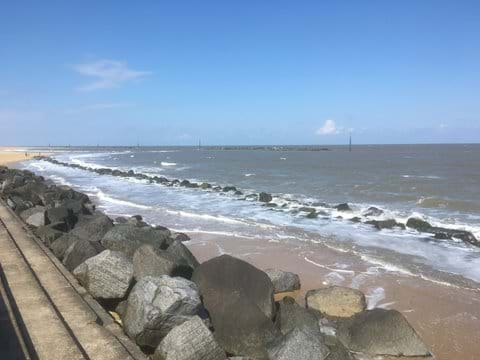 High Tide At Sea Palling, 3 Miles Away