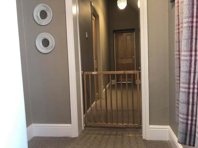 Stair gate available, family accommodation in Rutland