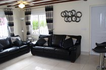 Stylish Lounge with Leather Sofas