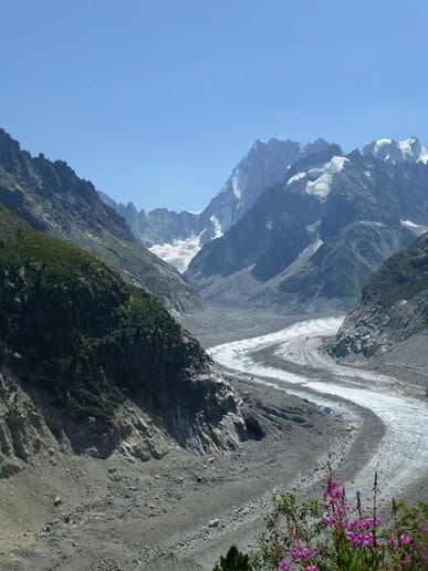 One of several Glaciers in Chamonix, the Mer de Glace