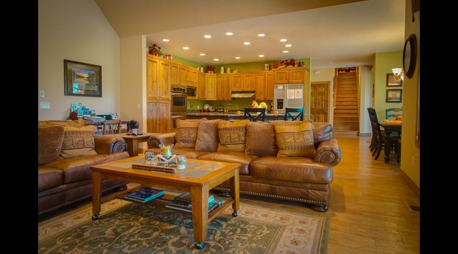 The cooks will love the open floor plan