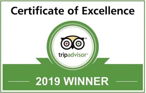 TripAdvisor 2019 Certificate of Excellence Award