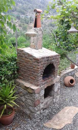 Stone and brick BBQ...cook your meals outdoors and enjoy the weather!