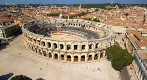 The Arena at Nimes - best preserved Roman amphitheatre, and film set of Gladiator!