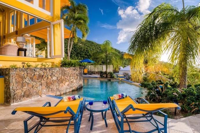 Enjoy the pool deck