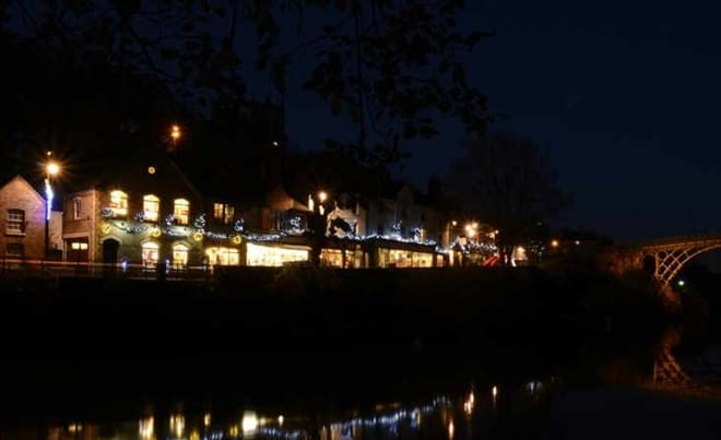 NIGHT TIME VIEW IRONBRIDGE