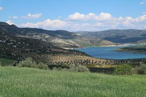 Iznajar lake looking towards Granada
