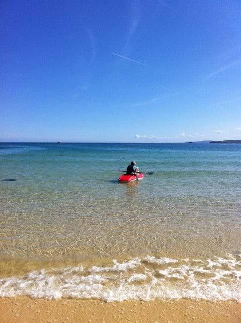 Kayaking off Porthminster Beach